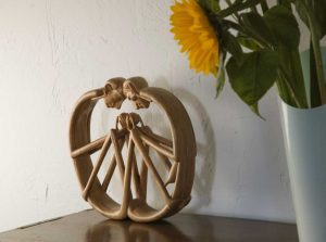 Woodcarving of couple