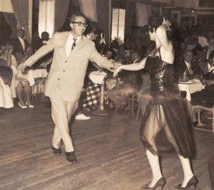 Maude's parents dancing