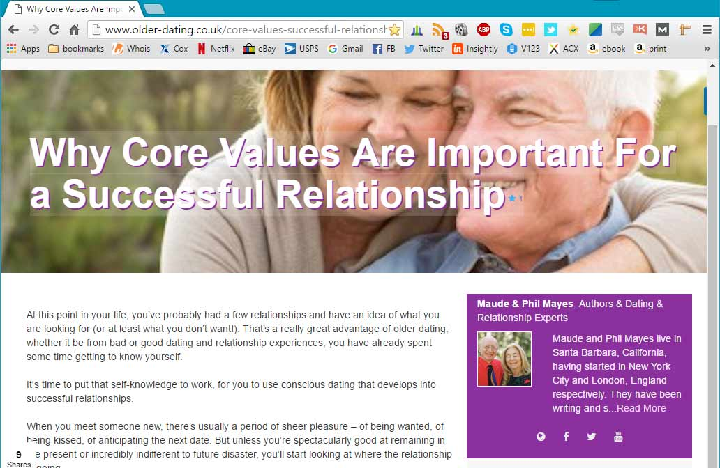 Phil and Maude's Friday Feature: Core Values