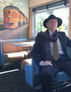 Man alone on train