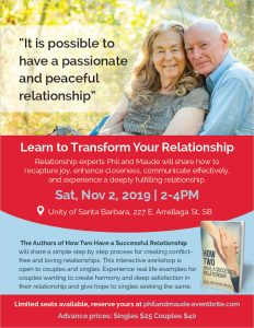 Flier for Workshop 0n Nov 2, 2019