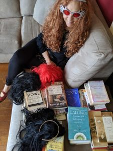 Maude, wigs and books