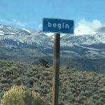 Sign saying 'Begin'