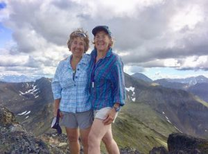 Two women hiking