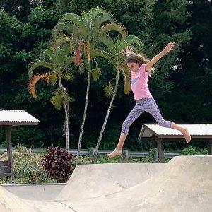 Girl in midair