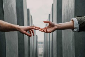 Two hands just touching
